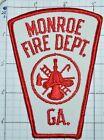 GEORGIA, MONROE FIRE DEPT WEB BACK PATCH