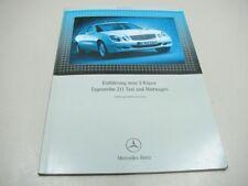 MERCEDES Einführung E 211 Taxi Mietwagen 2002 Werkstatthandbuch Repair Manual