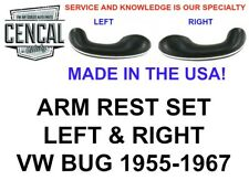 """ARM REST LEFT & RIGHT VW BUG 1955-1967 """"MADE IN THE USA"""" 16-1603 16-1604"""