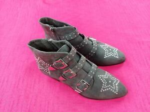 Women's Primark Ladies Ankle Low Heel Zip up Grey Boots UK 7 EUR 41