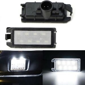 For Fiat 500 2013-19 Dodge Viper Jeep Grand Cherokee LED License Plate Lights 2x