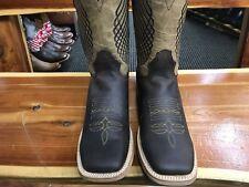 100% Leather High Quality Western Square Toe Boots/ Botas de Piel estilo rodeo