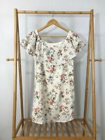Skies Are Blue Women's Floral Print Off Shoulder Dress Size M