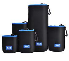JJC Neoprene Lens Pouch Bag W/ Carabiner & Belt Loop for Camera Lens Waterproof