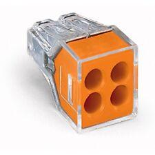 Conector de Cable de empuje Wago 773-104 4 X 20 Naranja Cable