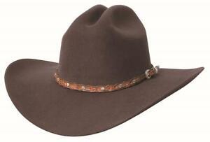 New PISTOL PETE 6X Chocolate Premium Wool Western Cowboy Hat Bullhide MonteCarlo