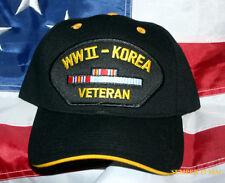 WORLD WAR 2 KOREAN WW 2 HAT CAP RIBBONS US ARMY MARINES NAVY AIR FORCE KOREA VET