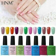 HNM Colour Gel Polish Lacquer Varnish Manicure Nail Art Base Top Coat Set UV LED