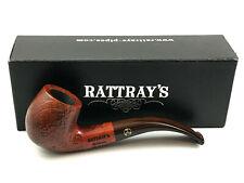 Rattray's Brownie Bent Pfeife pipe pipa - 9mm Filter sandgestrahlt