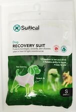BRAND NEW Suitical Dog Recovery Suit in Black, Size: Small