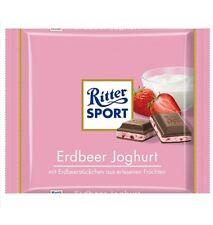 3 x 100g pack Ritter Sport Strawberry Yogurt milk Chocolade NEW from Germany