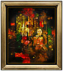 Yankel Ginzburg Original Oil Painting On Canvas Signed Female Portrait Artwork
