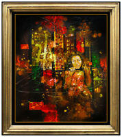 Yankel Ginzburg Original Oil Painting On Canvas Signed Female Portrait Artwork