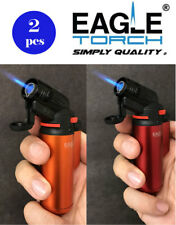 2 Pcs Eagle Jet Torch Gun Lighter (V.2) Adjustable Flame Windproof Refillable