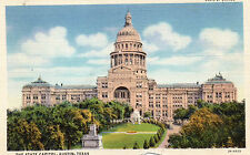 postcard USA Texas  Austin the state Capitol  unposted but written on