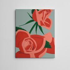 """16X20"""" Gallery Art Canvas: Alex Katz POP """"Rosebud"""" Réalisme Fine Art Painting"""