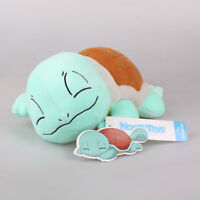 "New 11"" 28Cm Licensed Pokemon Sleeping Squirtle Plush Toys Soft Stuffed Doll"