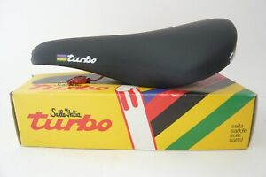 Selle Italia 1995 Turbo black smooth leather saddle