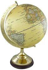 Edler Globus auf Holzstand H 35 cm- Messinggestell- Antikdesign