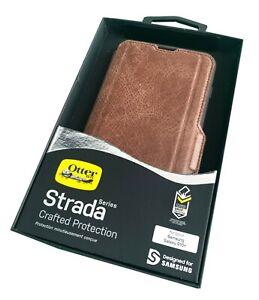 Otterbox Strada Leather Folio Wallet Case for Samsung Galaxy S10+ Espresso Brown