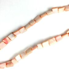 "16"" Dyed Light Pink Shell 8MM Square Beads"