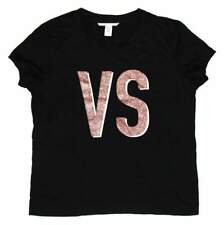 Victoria's Secret Womens Black Pink VS Tee T-Shirt Top Size M
