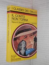 IL CONTO NON TORNA Mignon G Eberhart M L Fehr Mondadori classici del giallo 257