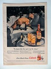 1946 Print Ad Calvert Reserve Blended Whiskey ~ Fox Gives Up the Chase