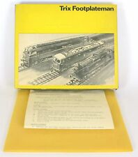TRIX 2167 MAROON 52 WESTERN FOOTPLATEMAN KIT BOX ONLY WITH INSTRUCTIONS