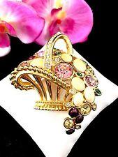 IMPRESIONANTE Swarovski Cisme 18ct GP Rosa Diamante Imitacion Cabujón flor