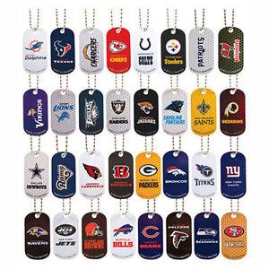 NFL American Football Metal Team Coloured Dog Tags 32 Teams FREE UK SHIPPING
