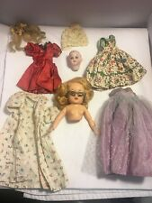 Lot of vintage miniature doll clothes dresses and dolls parts