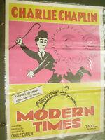CHARLIE CHAPLIN MODERN TIMES comedy RARE POSTER INDIA NFDC release original