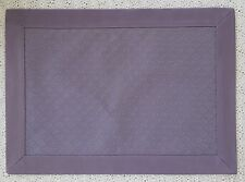 Set of 4 Purple Checkerboard Reversible Fabric Placemats Framed Criss Cross