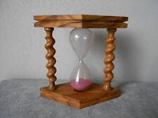 Vintage French wood turned olive glass EGG TIMER