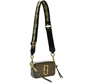 Marc Jacobs Small Snapshot Camera Bag Crossbody French Grey Multi Authentic