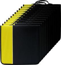 (1) CRY-E360YE 360 Disc Capacity Black & Yellow CD DVD Binders Storage Media 350