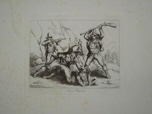 B.PINELLI (1781-1835) GRAVURE VOYAGE ROME ROMA CONTREBANDE ITALIE ITALIA 1820 ab