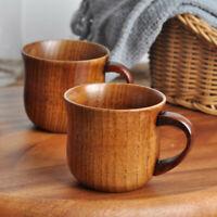 Pequeño hecho a mano Madera maciza natural Taza de Té Café Vino De Madera Water Drinking Taza