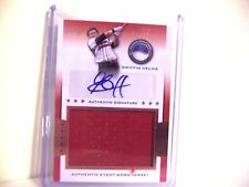 GRIFFIN HELMS 2013 LEAF POWER SHOWCASE 10/50 AUTO JERSEY PATCH ROOKIE /FREE SHIP