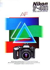 Nikon F-401 IMAGE MASTER CONTROL AF Prospekt brochure german - (0788)