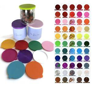 LA FERMIERE Yogurt jar lids WITHOUT TABS --   Pick Your Colors -  ❤️  68 Colors