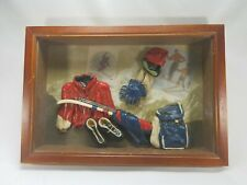 Vintage Antique Style Picture Wall Hanging Shadow Box Team Skiers