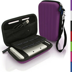 Purple Hard Case Cover for New Nintendo 3DS XL 3DSXL 2DS XL 2DSXL Sleeve Pouch