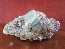 Aquamarin Kristall 40x30x25 mm auf Muskovit Kristalle 805 g XXL Stufe Pakistan
