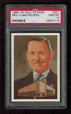 PSA 10 SENATOR MOLSON and THE MONTREAL FORUM 1985 Hall of Fame Hockey Card #221