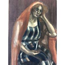 Art juif la juive technique mixte fusain aquarelle anonyme ?