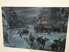 Winds of Winter, Mort Kunstler, Civil War Print, S/N 412/2000