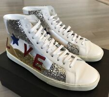 900$ Saint Laurent Leather High Tops Sneakers size US 11, Made in Spain