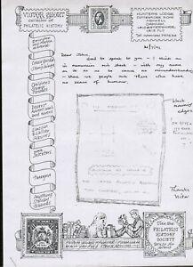Victor Short 1991 preliminary letter re In Memorium Postcard Artwork